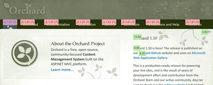 Orchard Website Contrast Fail