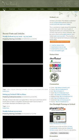 Orchard Website Screenshot